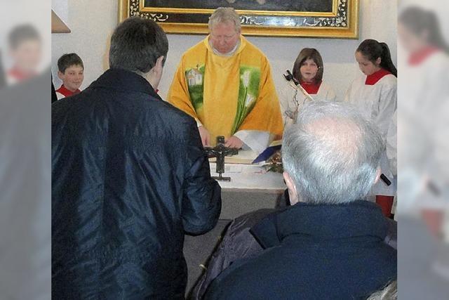 Kapelle und Heiligen gefeiert