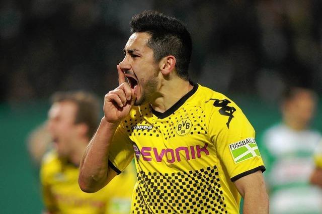Siegtor in der 120. Minute: Dortmund im Pokalfinale