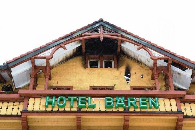 Hotel Bären: Die Brandruine wird abgerissen