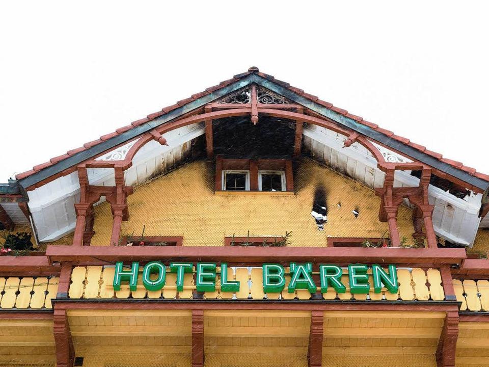 Zerstört – das Hotel Bären in Titisee.  | Foto: Dominic Rock