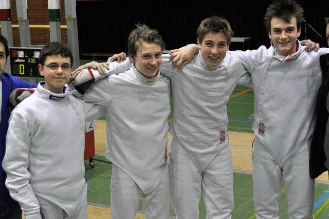 A- und B1-Jugend der Fechter trugen in Waldkirch die Landesmeisterschaften aus
