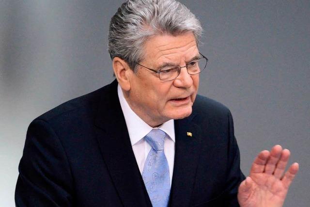 Gauck: Deutsche sollen mutig und zuversichtlich sein
