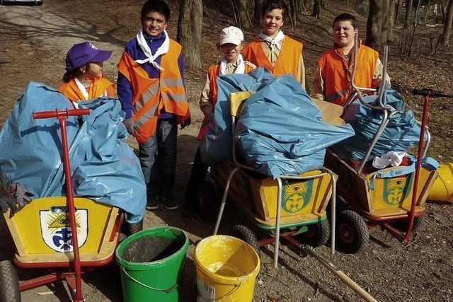 Ortsputz in Bad Krozingen: 30 Kubikmeter Müll