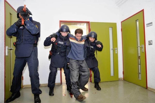 Im Müllheimer Jugendgefängnis trainiert Polizei jetzt Anti-Amok-Einsätze