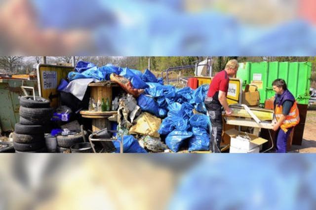 22 Kubikmeter Müll aus der Stadt