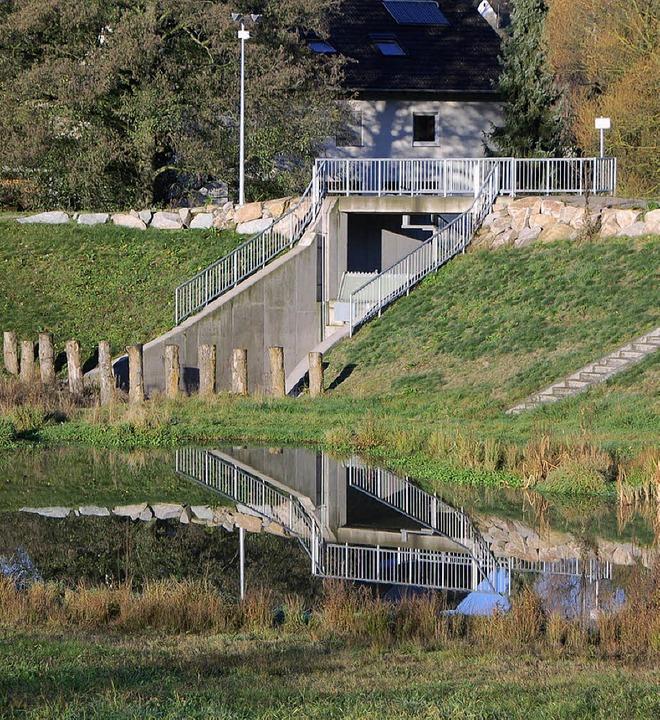 Der Hochwasserschutz ist im Hexental s... das Becken Bitzenmatte in Merzhausen.  | Foto: Archiv: Andrea gallien