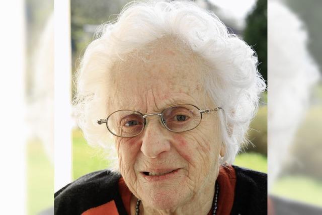 Maria Saar wird heute 90 Jahre alt