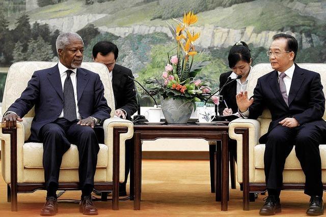 Annans Friedensplan akzeptiert, doch die Kämpfe gehen weiter