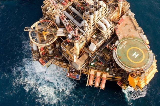 Bohrinsel leck: Gas strömt in die Nordsee