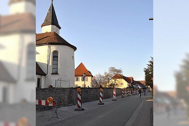 Umkircher Mauerbaustelle sorgt für Unmut