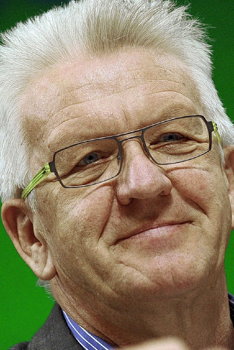 Ministerpräsident Kretschmann unterstützt Staufens Kampf gegen die Risse-Krise.  | Foto: dpa