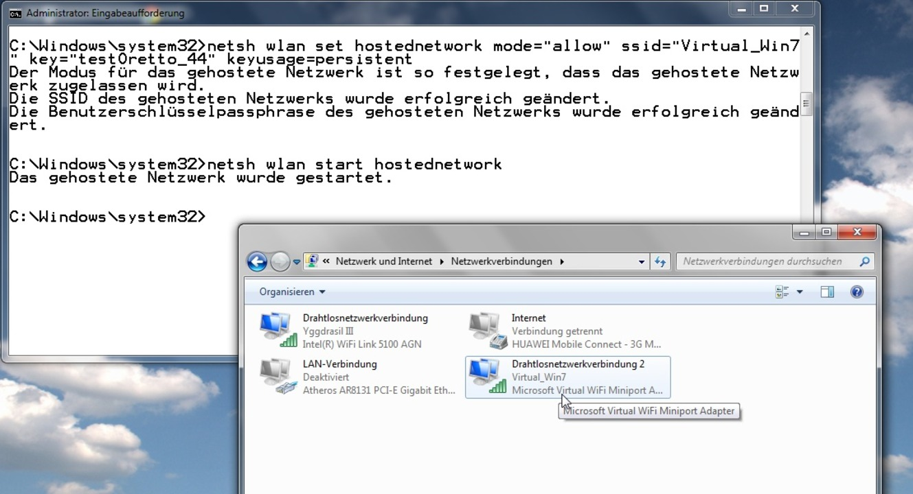 Hotspot-Funktion in Windows 7  | Foto: IDG