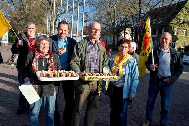 50. Mahnwache gegen das Atomkraftwerk in Fessenheim