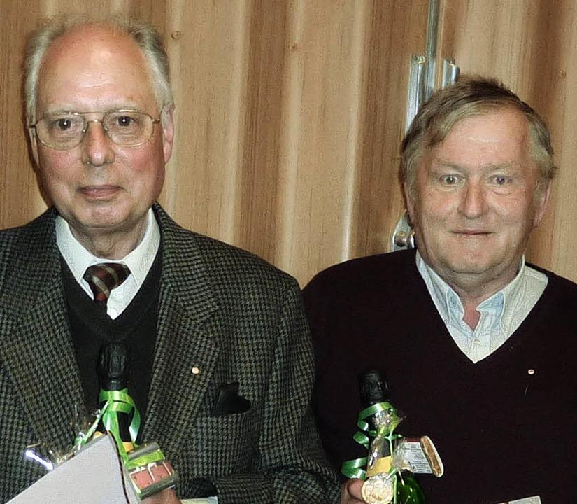 Peter Schlegelberger (links) und Berth...en dem CDU-Stadtverband Löffingen an.   | Foto: Karla Scherer