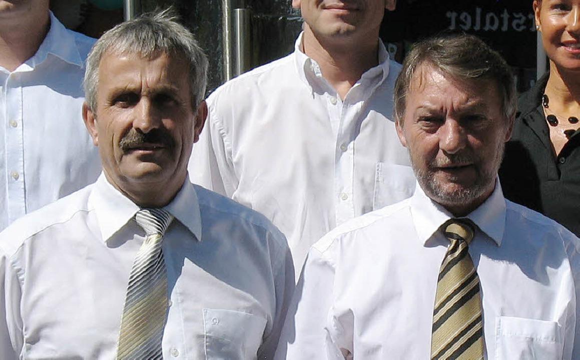 Die beiden Kontrahenten: Paul Moraweck...ks) und Bürgermeister Günter Gorecky.   | Foto: Archiv: katharina meyer