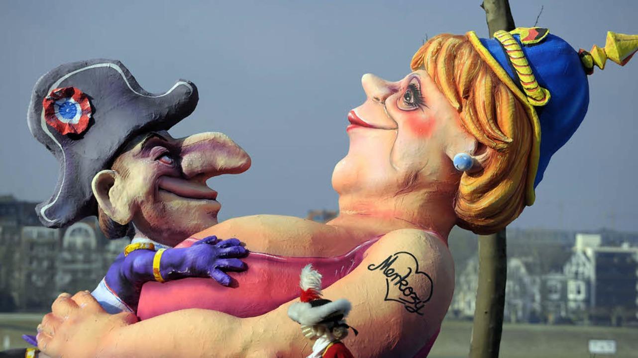 Französisch-deutsche Loveaffair: &#822...s Sicht der Düsseldorfer Karnevalisten    Foto: usage Germany only, Verwendung nur in Deutschland