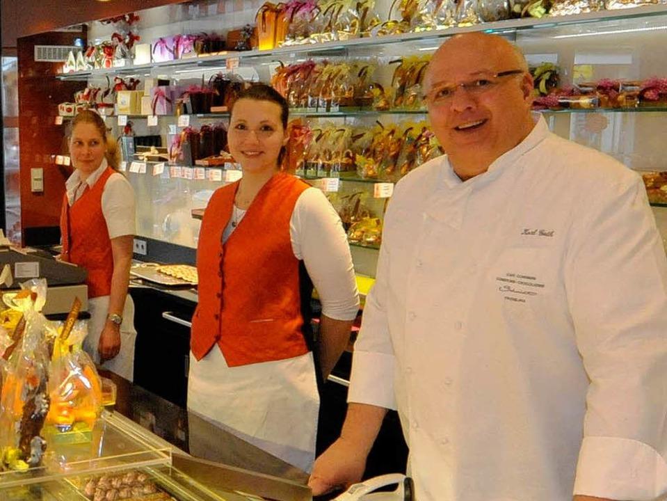 Wo heute Karl Guth und seine Verkäufer...läuft schon seit 1912 der Cafébetrieb.  | Foto: Michael Bamberger