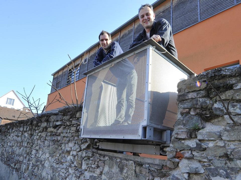 Frank Schmidt und Oliver Noack betreiben das Tonstudio Temple.  | Foto: Michael Bamberger