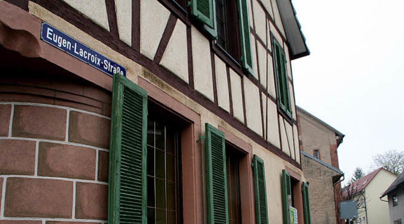 Die Straße erinnert an den  Sohn von Altdorf.     Foto: repro/Foto: E. Sieberts