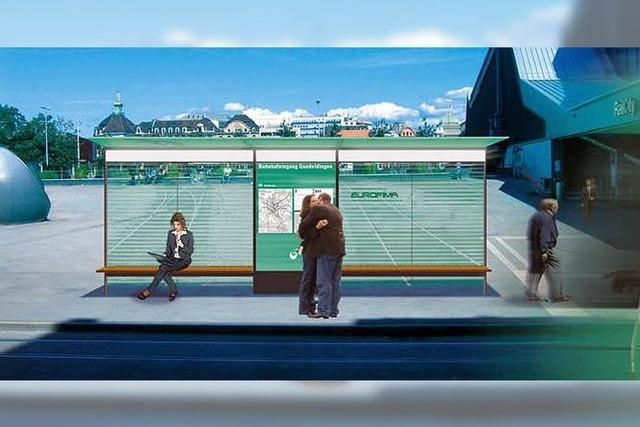 Fünf Wartehallen für Tram