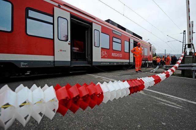 Bahnstrecke bei Pfinztal ist wieder freigegeben
