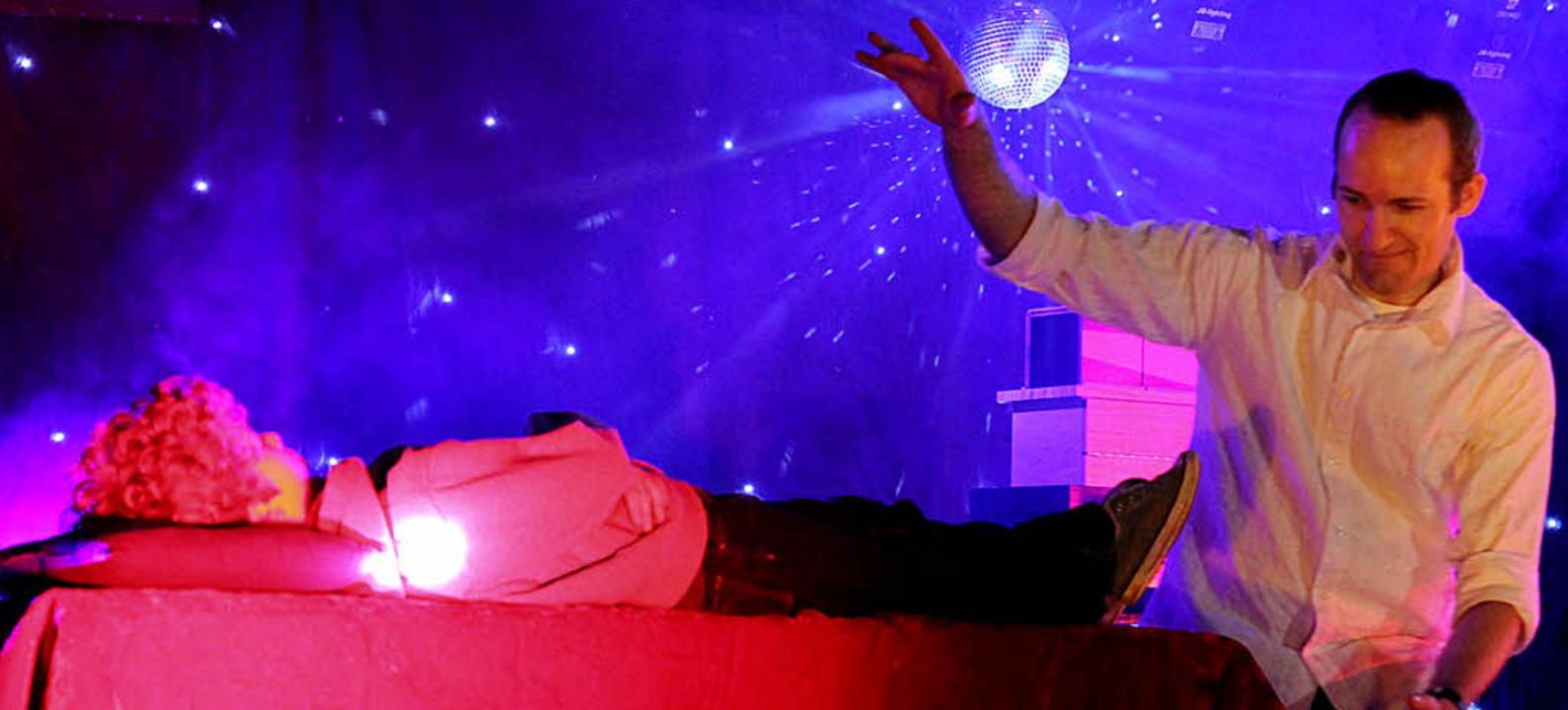 Karsten Strohhäcker beim Auftritt in Broggingen    Foto: Melanie Brandt