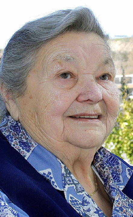 Emma  Merklin feierte gestern ihren 90. Geburtstag.    Foto: Franz