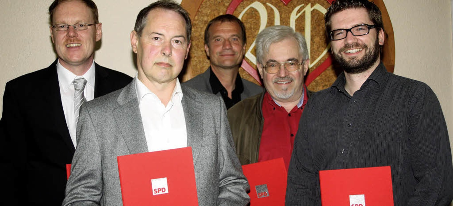 Ehrung von Steinener SPD-Mitgliedern f...hneider und Michael Hitz (von links).   | Foto: Heiner Fabry