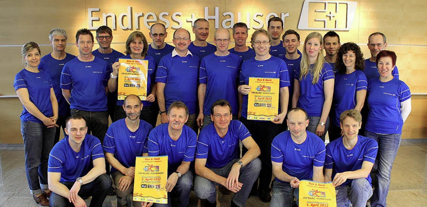 Über 500 Kilometer liefen die sportlic...ndress+Hauser beim Freiburg-Marathon.     Foto: Endress+Hauser