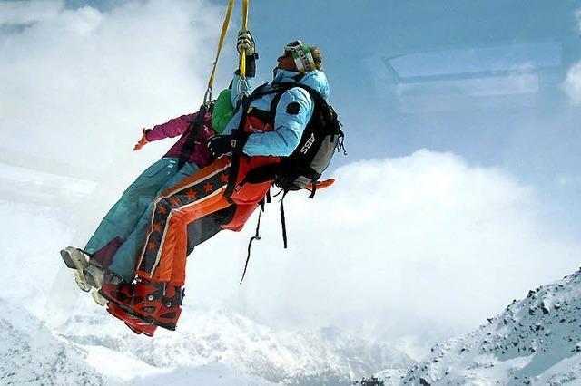 Mit Hubschrauber aus Gondel gerettet