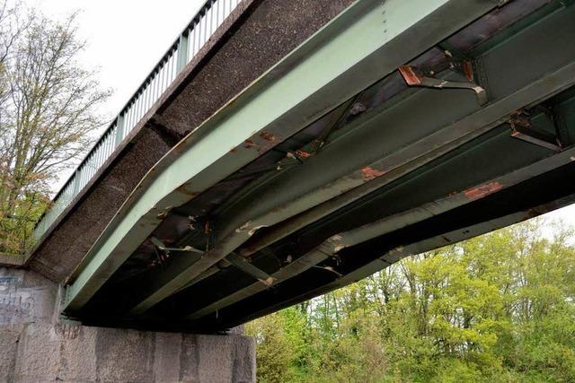 Beschädigte Brücken an der A5 werden abgerissen