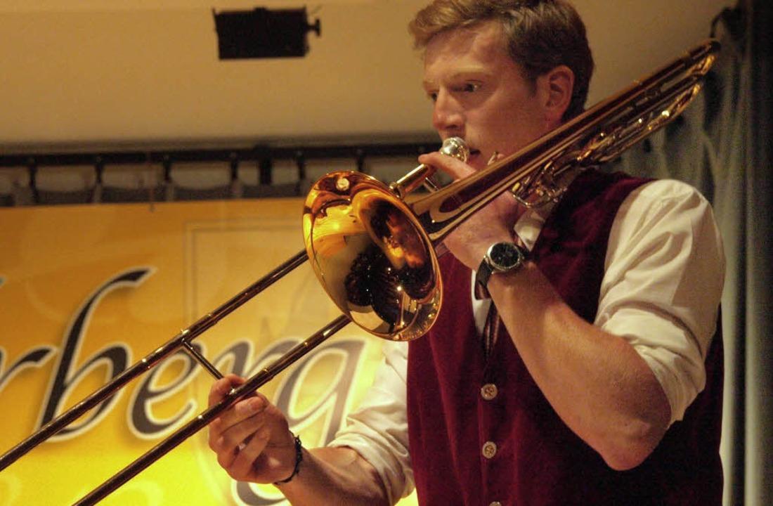"""Posaunist Urs Leyde interpretierte den...llen Blues """"Trombone Dreams""""    Foto: Karin Stöckl-Steinebrunner"""