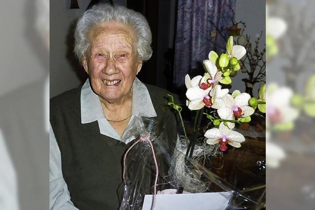 Adelheid Keller wurde 95 Jahre