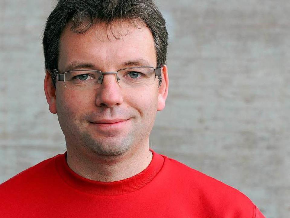 Marc Schmid (33) ist seit 1999 Vorsitz... und seit 2007 Fanbeauftragter des SC.  | Foto: Michael Heuberger