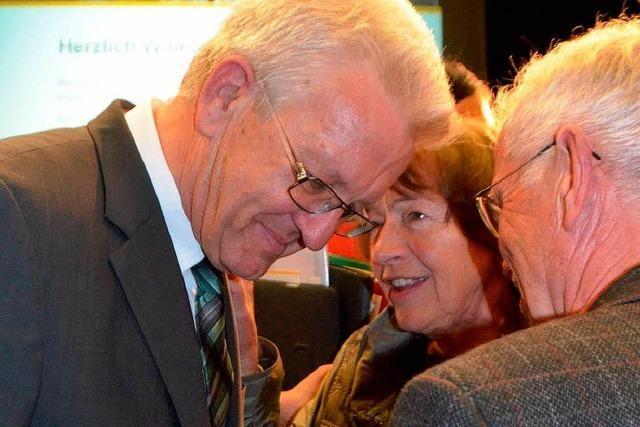 Kretschmann: Absagen an Verkehrsprojekte – aber trotzdem viel Applaus