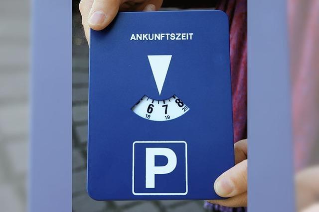 Die Parkscheibe mit Uhrwerk ist nicht erlaubt