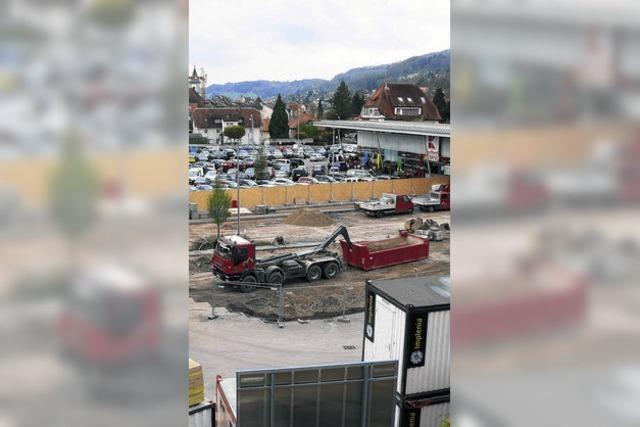 Baustelle statt Parkplatz