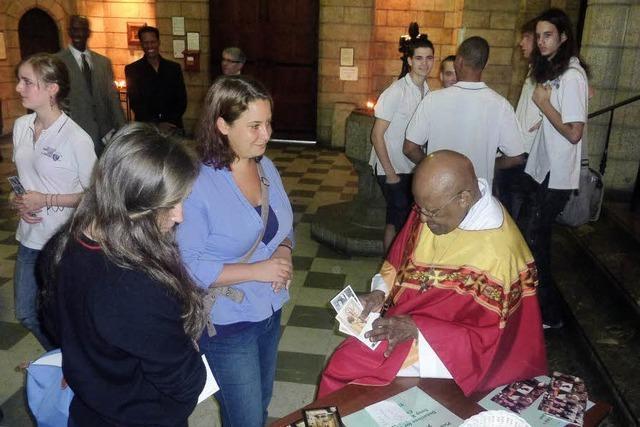 Schüler treffen Desmond Tutu