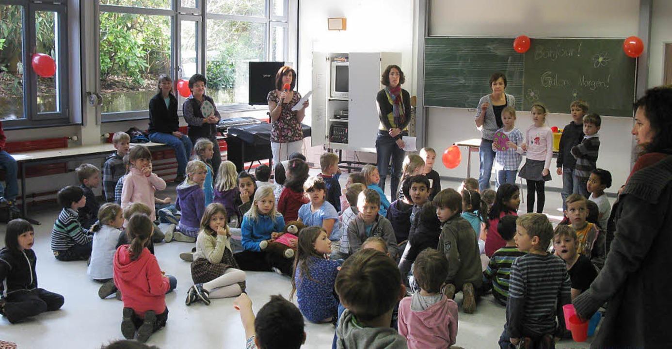 Die Zweitklässler der Fahrnauer Grunds... französischen Schülern aus Mulhouse.   | Foto: Schule