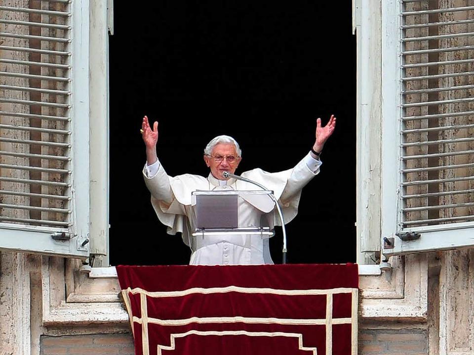 Papst Benedikt feiert seinen 85. Gebur...; und hat ein Mammutprogramm vor sich.  | Foto: AFP