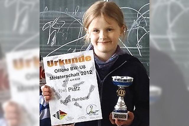 Sorah Reinbold ist U-8-Meisterin