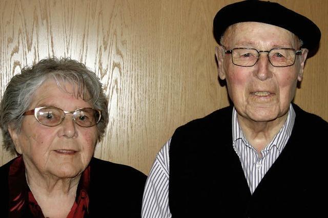 Jubelpaar ist seit sechs Jahrzehnten unzertrennlich