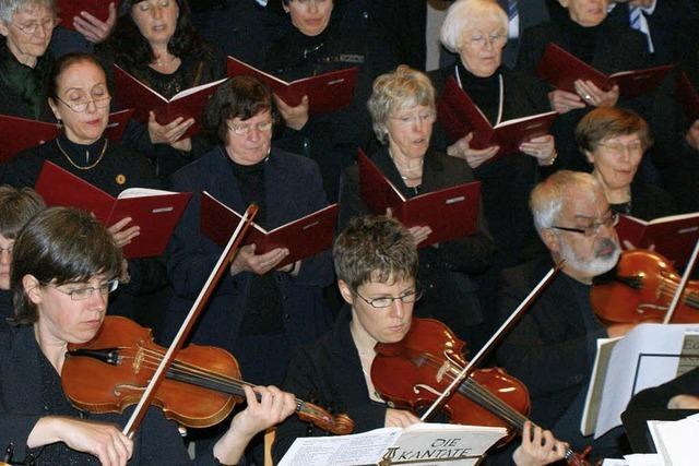 Chor springt für kranke Solistin ein