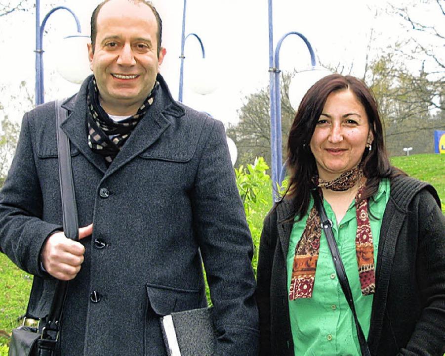 Türkisch-Lehrer Caner Zengin und die s... Müllheim und Neuenburg, Selime Özcan     Foto: Dorothee Philipp