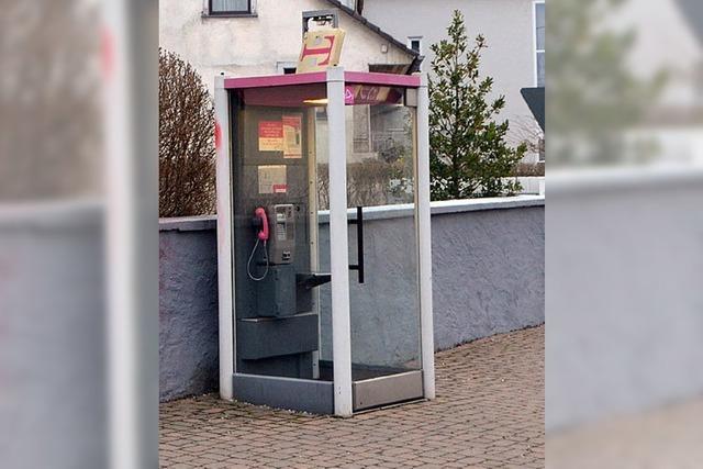 Die Telefonzelle kommt weg