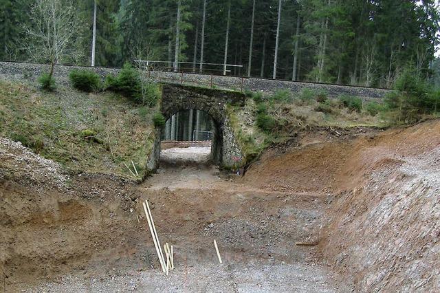 Zwei neue Bahnbrücken