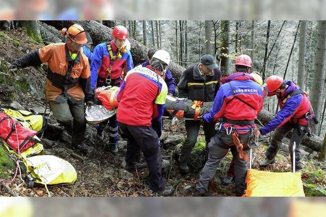 Rettung im schwierigen Gelände