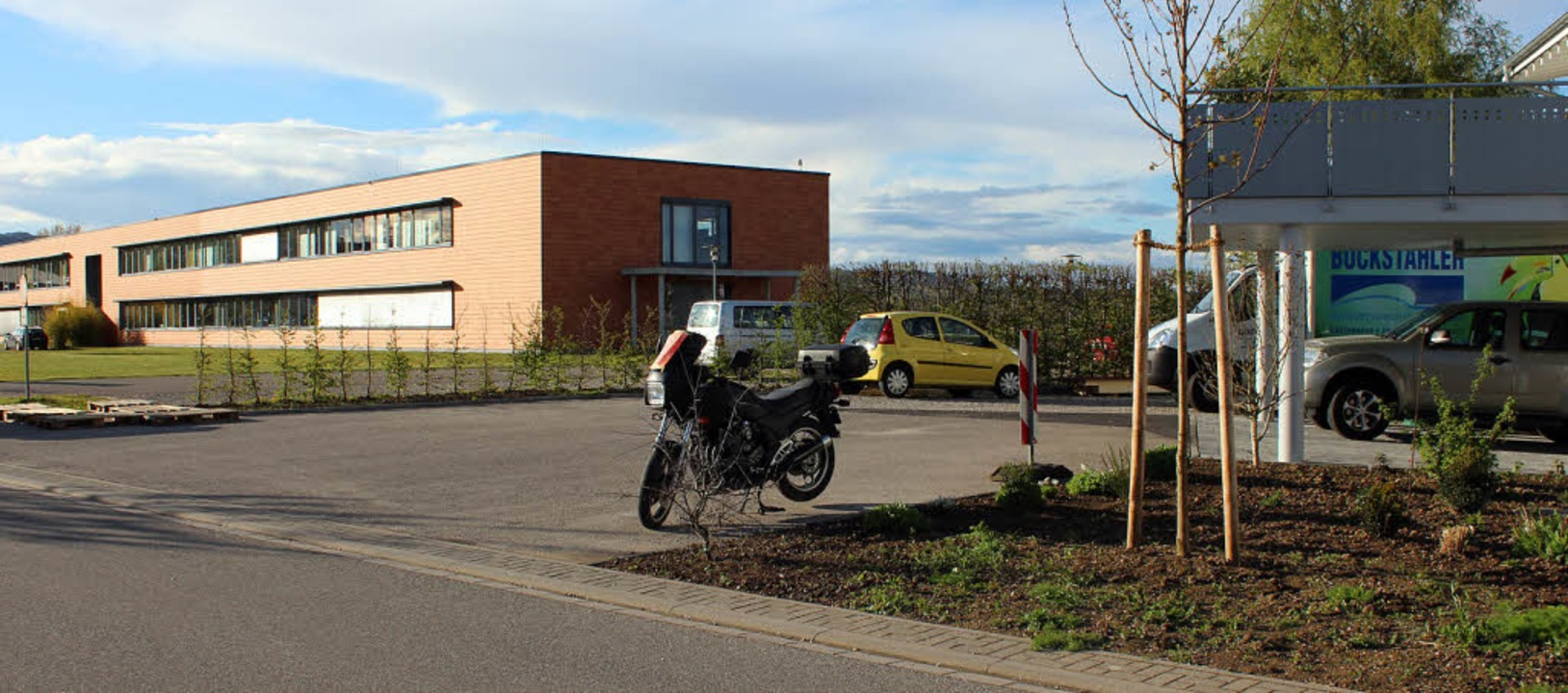 Wegen dieser Wendeplatte im Gottenheim...serweiterung mit der Firma Sensopart.   | Foto: mario schöneberg