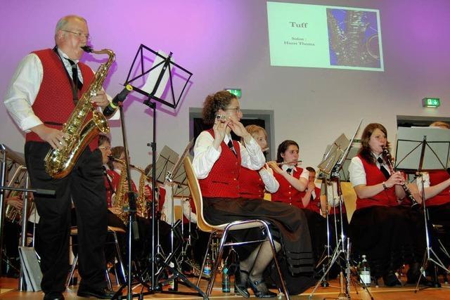 Musikverein Rotzel begeistert 280 Zuhörer