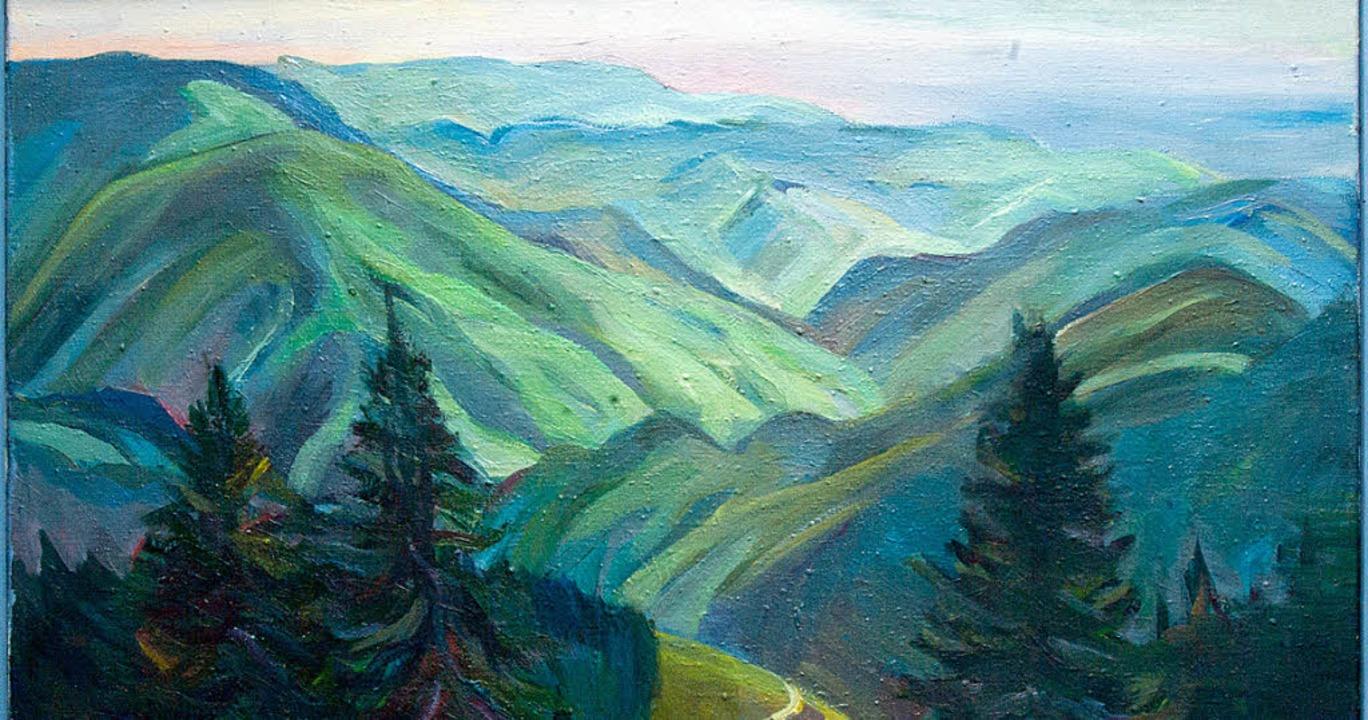 Der Schwarzwald aus Sicht der Künstlerin Irina Lozinskaia.   | Foto: B. Kleine